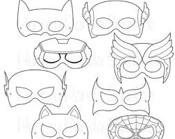 printable mask etsy