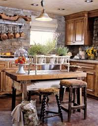 modern rustic kitchen design ideas wooden island breakfast bar