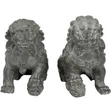 lion dog statue furniture 2 sitting foo dog statue set reviews