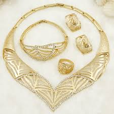 aliexpress crystal necklace images African fashion gold jewelry v shaped design crystal necklace jpg