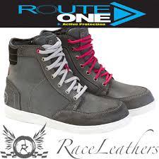 ladies motorbike boots merlin route one ellen grey ladies waterproof short motorcycle