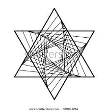 black white vector sketch fire triangle stock vector 569462911