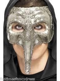mens venetian mask mens silver deluxe plague doctor venetian mask masked