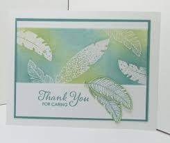 making thanksgiving cards feather trends in card making song of my heart stampers