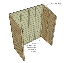 Diy Wooden Shed Plans by Ana White Small Cedar Fence Picket Storage Shed Diy Projects