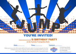 birthday party air factory trampoline park