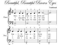 beautiful brown big note piano sheet pdf ad 1460473