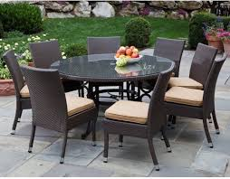 Wicker Patio Dining Table 60 Patio Table Set Patio Furniture Conversation Sets