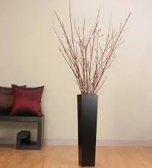 dark brown wooden decorative vases for living room bring rustic