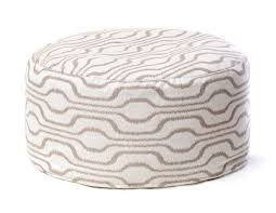 furniture cool pouf ottoman design for your contemporary bedroom