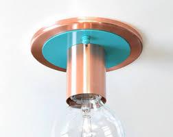 copper flush mount light copper flush mount etsy