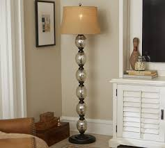 mercury glass ball lights stacked mercury glass floor l base pottery barn in stacked ball