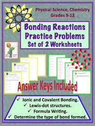 bonding reactions ionic and covalent practice problem worksheet