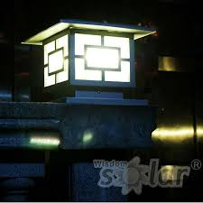 Outdoor Pillar Lights Fence Gate Design Ideas With Solar Lights Search