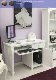 baumhaus hampton single pedestal computer desk amazon co uk
