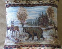 Wilderness Home Decor Wildlife Pillow Etsy