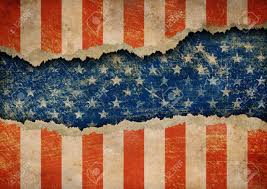 American Flag Header Grunge Ripped Paper Usa Flag Pattern Stock Photo Picture And