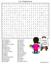 los pasatiempos word search puzzle u2013 printable spanish