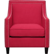 Nailhead Accent Chair Picket House Uer0842pc Emery Accent Chair Ottoman In Berry 2