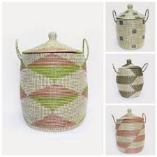 Clothes Hampers With Lids Woven African Laundry Clothes Hamper Grey U0026 Cream Laundry