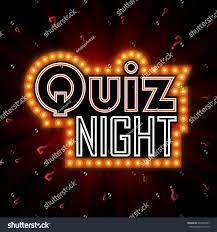 quiz night announcement poster design web stock vector 607040387