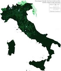 Provinces Of Italy Map Italian Language In Italy And Istria By Municipality Oc 4464 X