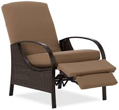 black polished iron porch chair with ottoman recliner outdoor patio