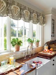 window treatment ideas for kitchens kitchen 10 stylish kitchen window treatment ideas hgtv regarding