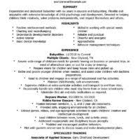 Example Of Nanny Resume by Professional Nanny Resume Template Example Featuring Experience