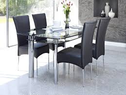 Black Dining Room Chair Dining Room Furniture Glass Dining Table Set Sparkling Glass