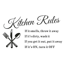 Wall Stickers For Kitchen by Sjinc Removable Kitchen Rules Words Wall Stickers Amazon Com