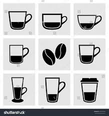 espresso coffee clipart types cups dishes glasses coffee cup stock vector 274322585