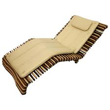 Chaise Lounge Chair Pacific Green Palmwood And Leather Chaise Lounge Chair At 1stdibs