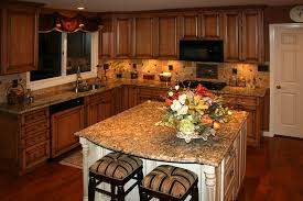 Backsplash Maple Cabinets Kitchen Beautiful Maple Kitchen Cabinets With Flower And Nice
