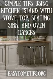 kitchen islands with stove top kitchen island with stove top seating sink and oven ranges