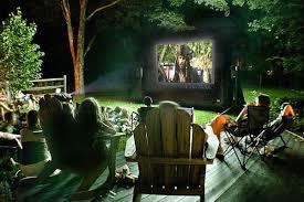 backyard movie projector ideas home outdoor decoration