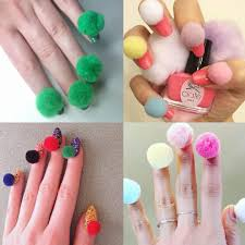 pom pom nails cute nail art or a bad idea trending