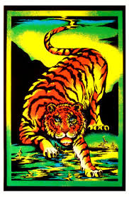 free black light posters tiger blacklight poster poster and print