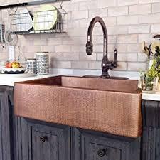 copper apron front sink adams farmhouse apron front handmade copper kitchen sink 33 in
