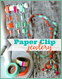 paper clip jewelry summer craft hip2save