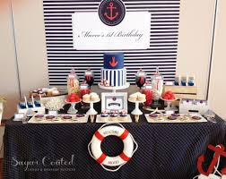 Nautical Table Decorations Nautical Candy Table Decorations Nautical Ba Shower In Blue And