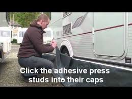 Caravan Awning Rail Protector Fitting Nr Awnings Wheel Arch Cover Kit Single Grey Youtube