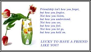 s day cards for friends friendship quote birthday card lucky friend greeting card of
