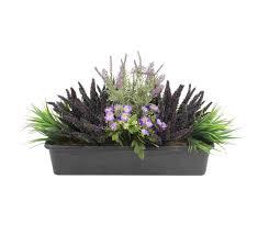 fanciful purple rainnnn artificial window box bloomingartificial