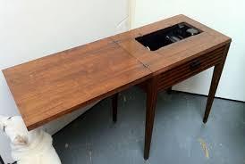 fold away sewing machine table singer no 71 cabinet mid century modern transforming furniture