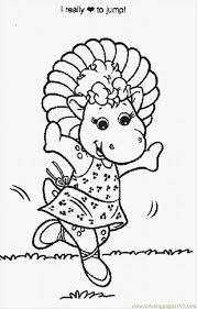barney coloring pages 4 lrg coloring free barney coloring