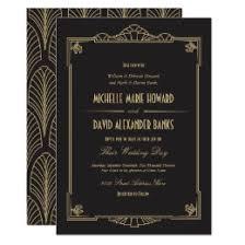 deco wedding invitations deco wedding invitations announcements zazzle