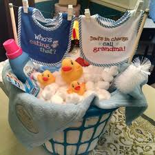 mini bath tub diaper gift basket filled with sz2 pampers created by planning daydreams baby shower gift clothesline and laundry basket themed