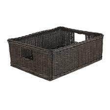 basic underbed wicker storage basket the basket lady