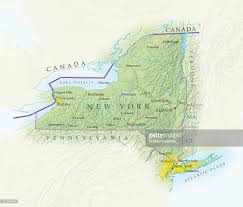 New York State Map Map Of New York State Closeup Stock Illustration Getty Images